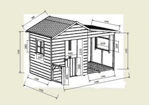 mini-maison en bois Gaby fiche technique